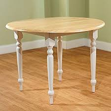 Round Dining Room Table With Leaf Amazon Com Cottage Style 40 Inch Diameter Round Dining Table With