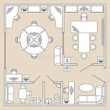 architecte d int ieur bureaux bureau intérieur illustration de vecteur de plan d architecture de