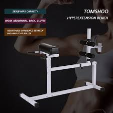 Hyperextension Benches Tomshoo Hyperextension Bench Adjustable Abdominal Back Exercise