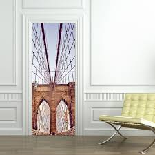 online buy wholesale brooklyn bridge wall mural from china diy 3d new york brooklyn bridge wall stickers diy mural bedroom home decor poster pvc waterproof