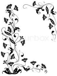 vektor flowers ornaments isolated floral design for the frame