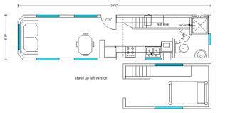Cabin Floorplan Rich The Cabin Man U0027s Extra Long Tiny House On Wheels