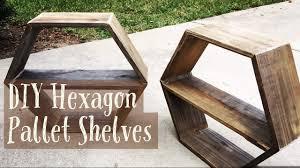 How To Make Wall Shelves Diy Pallet Hexagon Wall Shelves How To Make Youtube