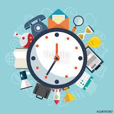 time design planner flat design concept for time management targeting work planning