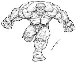 45 hulk cartoon art tattoo outlines images