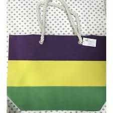 mardi gras bead bags gras striped oversized canvas tote bag