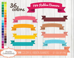 buy ribbon buy 2 get 1 free 144 colorful digital ribbon banners clipart