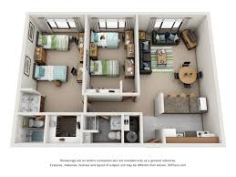 Floor Plan Of Two Bedroom House by Studio 2 Bed Apartments Meridian On College Avenue
