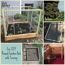 diy raised bed with fencing we have a major issue with deer and