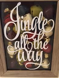 jingle all the way decal christmas decal shadowbox decal