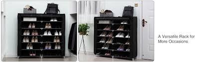 Large Shoe Storage Cabinet Furniture Amazon Com Songmics 7 Tier Portable Shoe Rack Organizer 36 Pair