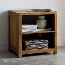 Nightstand With Shelves Tribeca Side Table With Open Shelves The Company Store