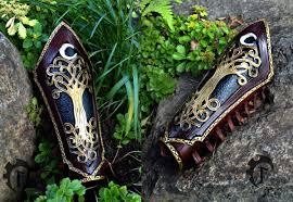 leather elf bracers forest elvish larp larping costume