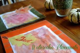 thanksgiving placemats for kids reusable dry erase watercolor placemats handmade kids art