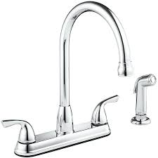 delta high arc kitchen faucet stainless 1 handle with side spray
