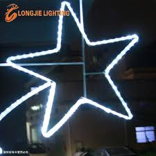 Christmas Rope Light Star by 2 5m High Led Rope Light Star Christmas 2d Led Street Pole Motif