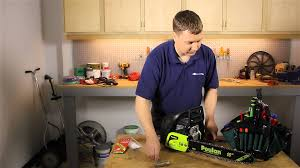 how to install a chain on a poulan chainsaw lawn care u0026 power