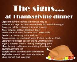 the signs at thanksgiving dinner cat talk