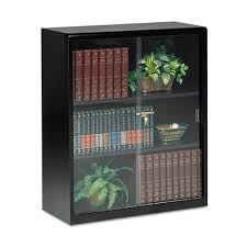 Metal Bookcase With Glass Doors 3 Shelf Metal Bookcase W Locking Glass Doors Ultimate Office