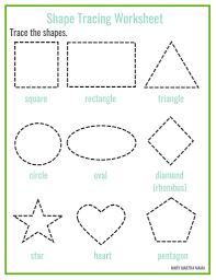 drawing shapes worksheets worksheets