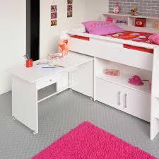 U Schreibtisch Halbhohes Kinderbett Sinop Mit Schreibtisch Pharao24 De