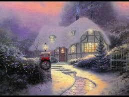 christmas cottage christmas winter scenes