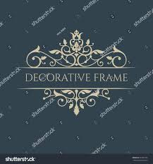 Christmas Cards Invitations Classic Border Decorative Frame Greeting Cards Stock Vector