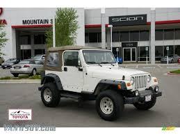 white jeep sahara 2001 jeep wrangler sahara 4x4 in stone white 370221 vannsuv