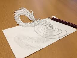 monster writing paper pencil drawing a 3d loch ness monster anamorphic illusion youtube