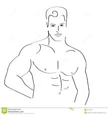 man sketch stock vector image 40107843