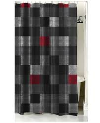 Grey Red Curtains Red Black Grey Geo Pixel Bedding Twin Xl Full Queen Teen Boy