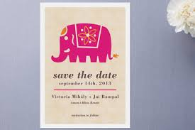indian wedding card ideas wedding card with elephant