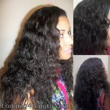 relaxed curly natural texture hair weave extension blending relaxed hair with wavy weave heat free longing 4 length