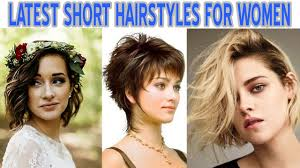 latest new short hairstyles easy haircuts for women youtube