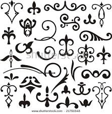 western flourish ornament vector free vector stock