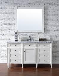 contemporary 60 inch single bathroom vanity white finish no top