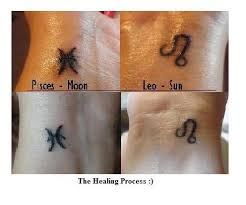 leo zodiac sign and pisces on wrist tattooshunt com