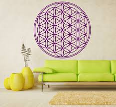 flower of life sacred geometry vinyl wall decal the
