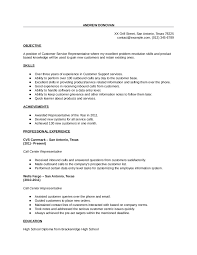 Good Objective For Customer Service Resume Resume Templates For Customer Service Resume For Your Job