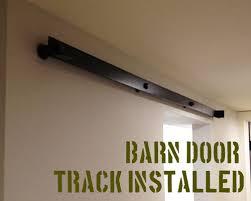 How To Make A Barn Door Track Diy Barn Door From Simple 2 6 U0027s