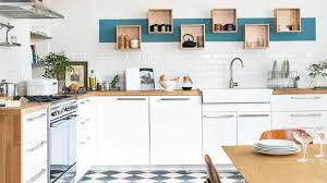 mur cuisine revêtement cuisine sol murs crédence carrelage béton ciré