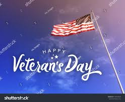 American Flag In Text Happy Veterans Day Text American Flag Stock Foto 734918560
