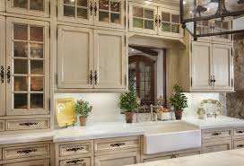 distressed kitchen cabinets cream color how to ikea cabinet doors