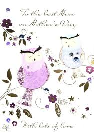 best mum owl happy mother u0027s day card cards love kates