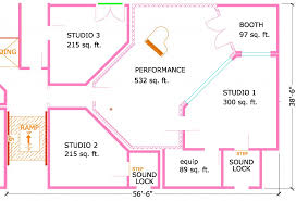 recording studio floor plan floor plan for multiple room facility steven klein s sound control