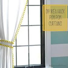 Curtains With Pom Poms Decor Diy Blackout Pom Pom Curtains These Are For Adding A Pop