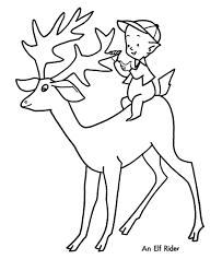 santa u0027s reindeer coloring pages santa u0027s reindeer elf
