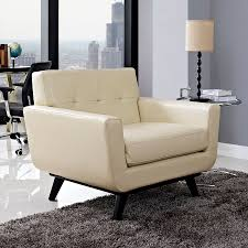 Modern Leather Armchair Empire Modern Beige Leather Chair Eurway Furniture