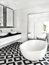 white marble on top white sink with iron faucet modern gray