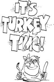 royalty free clipart image of a turkey with a domed plate a